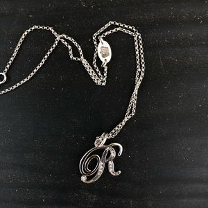 """R"" initial Juicy Couture Necklace"